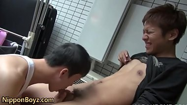 Asian twinks suck outside