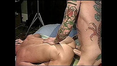 Vintage Tattoo Hunks Crave Rough and Wild Barebacking
