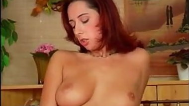 Beautiful Redhead Masturbates Her Body
